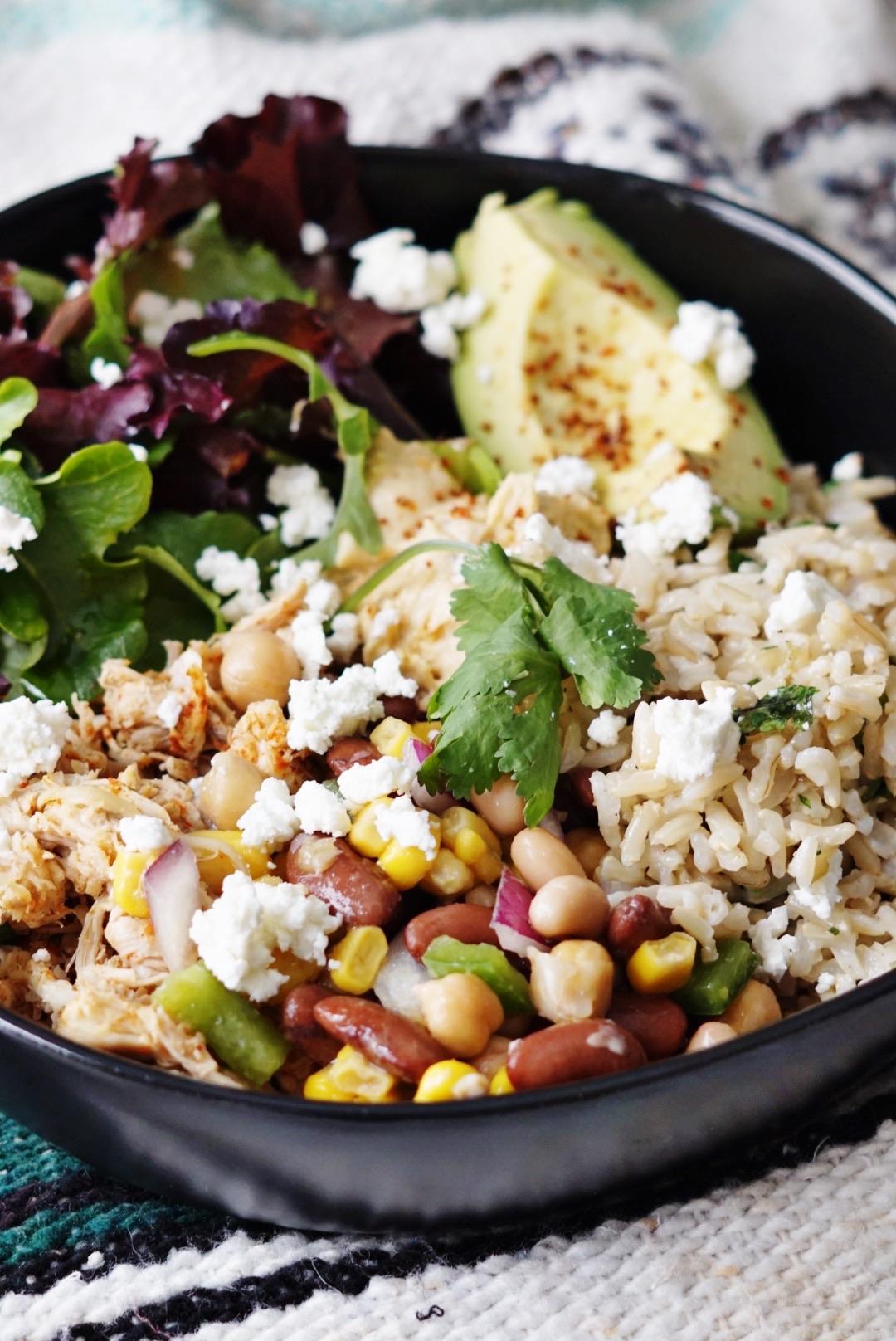 Taco Bowl With 3 Bean Salad | Mackenzie's Table